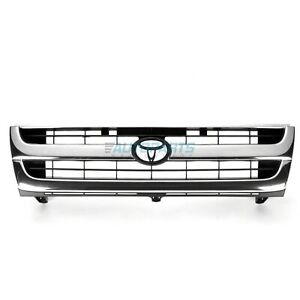New Front Grille Chrome black Fits 1997 2000 Toyota Tacoma To1200205