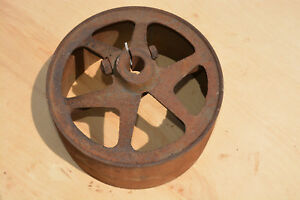 Tractor Pto Flat Belt Pulley International Ih Farmall Hit And Miss Steampunk