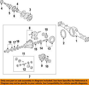 Toyota Oem 07 15 Tundra Rear differential Case 413110c010