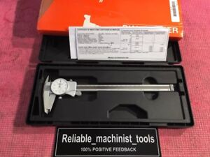 Excellent Mitutoyo 8 Inch Dial Caliper 505 676 d8tn machinist Tools