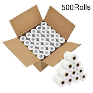 500 Rolls Thermal Paper 2 1 4 X 85 Credit Card Register Tape Pos Receipt Paper
