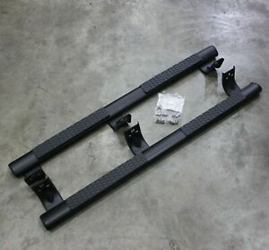 Quad Cab 5 Black Aluminum Oem Truck Tube Side Steps Running Boards Tubular Step