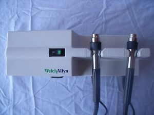 Welch Allyn 767series Grey Otoscope ophthalmoscope Wall Transformer No Heads K1