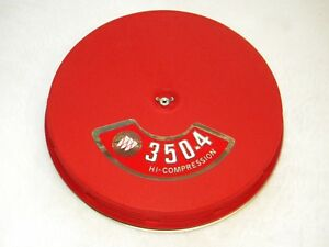 Buick Wildcat Gs 340 350 400 Custom Red Wrinkle Louvered Air Cleaner Riviera