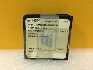 Vishay M55342k03b4e75 lot Of 400 4 75 Kohm Smd Thick Film Resistors New