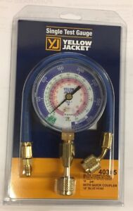 Yellow Jacket Blue Gauge r22 r410a r404a W 12 Hose Q c 40345