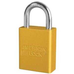 American Lock A1105ylw Yellow Lockout Padlock Keyed Diff Pack Of 6