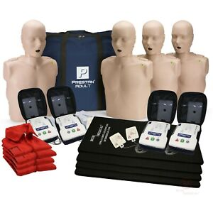 Cpr Adult Manikin 4 pack W Feedback Aed Ultratrainers Carry Bag W Wheels