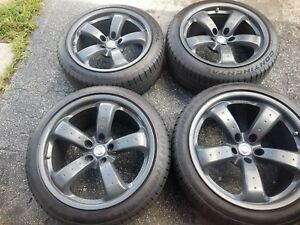 4 Used Staggered Rays Wheels Rims For Nissan 350z 370z