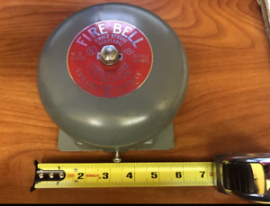 Fire Bell Single Stroke Adaptabel No 24 60 Cycle 2 5 Amps 12 Volts Edwards Comp