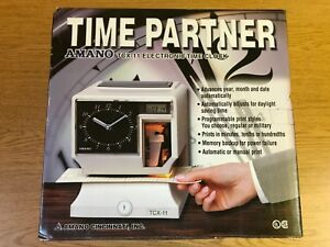 price Drop Amano Tcx 11 Electronic Time Clock Model Tcx 11 a044