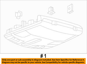 Lincoln Ford Oem 16 18 Mkx overhead Roof Console Fa1z58519a70eg