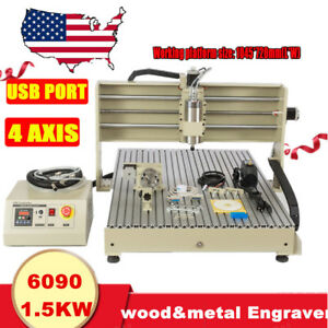 Usb Cnc Router Engraver Engraving Cutter 4 Axis 6090 Carving 600x900mm Artwork