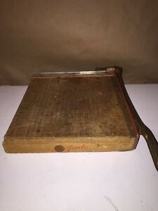 Ingento No 4 Guillotine Paper Cutter Trimmer 12 X 12 Vintage