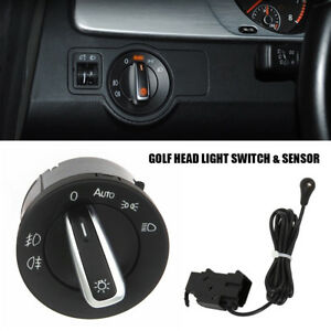 Car Auto Headlight Head Light Switch Sensor For Vw Golf Mk6 Mk5 Jetta Tiguan