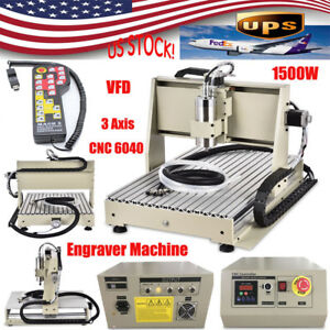 1 5kw Usb 3 Axis 6040 Cnc Router Engraver Milling Machine 3d Cutter Controller