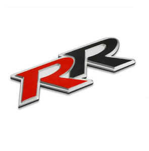 Brushed Aluminum Rr Car Sticker Badge Fit Honda Civic Tailgate Decal Emblem
