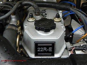 22re Or 22r 22r Te Engine Label Toyota Parts