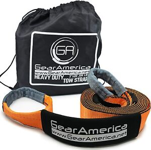 Gearamerica Recovery Tow Strap 3 X 20 Heavy Duty 35 000 Lbs