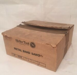 Heller Tool Box Of 5 10 5 3 4in 10 Tooth Regular Band Saw Blades Hard Edge