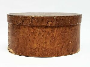 Early Round Antique Bentwood Box
