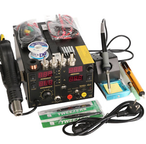 Saike 220v 909d Rework Soldering Station Hot Air Gun Dc Power Supply 3 In 1