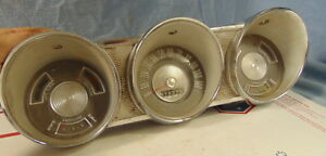 1962 Ford Fairlane Gauge Cluster Speedometer Original Rat Rod
