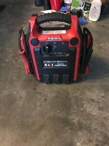 Battery Jump Starter Air Compressor Peak Portable 4 In 1 Cen Tech