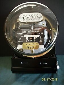 Westinghouse Dual Disk Form 12s 50 Amp 240 Volt Three Phase Meter