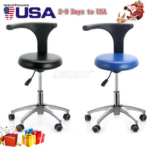 Usa Pu Leather Medical Stool Doctor Assistant Stool Mobile Chair Adjustable