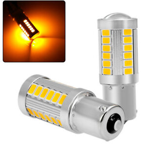 3000k Amber Yellow 1156 33smd Led Light Turn Signal Backup Reverse Parking Bulbs