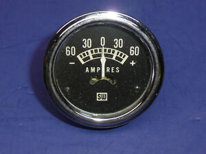 Vintage 1960 S Stewart Warner Coffin Needle Amp Gauge 2 1 16