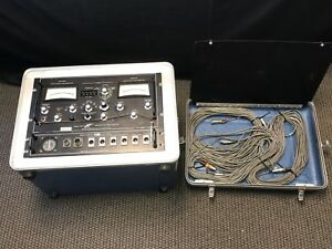 Space Corporation Model 10516 Vibration Analyzer monitor With Cables And Case
