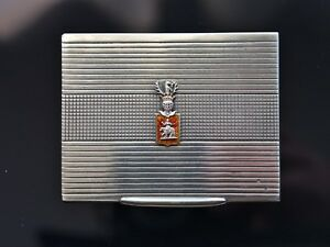 Antique Krupski Matulewicz Russian Polish Tsarist Silver Cigarette Case