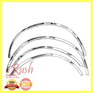 For 2004 2010 Nissan Titan Stainless Steel 4pcs Fender Trim No Toolbox 1 97 New