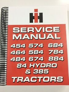 International Harvester 84 Hydro Tractor Service Manual Repair Manual 561 Pages