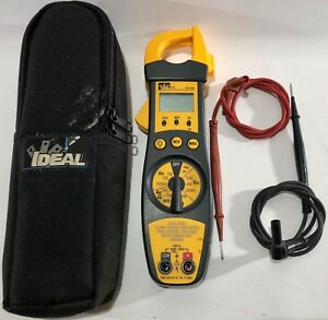 Ideal Electrical 61 704 200a Clamp Meter With Backlight Case Free Shipping