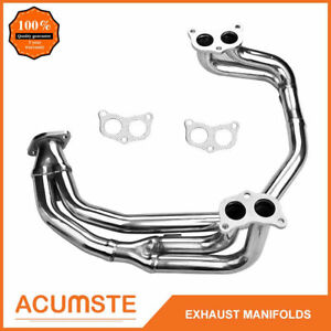 For 97 05 Subaru Impreza 2 5 Rs Ej25 Stainless Racing Exhaust Manifold Headers