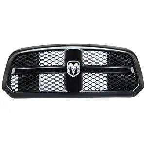 Front Hood Grille Bumper Honeycomb Mesh For 2013 2017 Dodge Ram 1500 Gloss Black
