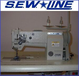 Sewline Sl4410 New Hd Leather Walking Foot W servo Industrial Sewing Machine