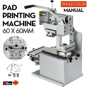 Manual Pad Printing Machine Kit Pad Printer Sealed Ink Cup System Plate Pad Diy