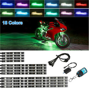 Car Vehicle Motorcycle Led Neon Under Glow Lights Strip Kit For Harley Davidson