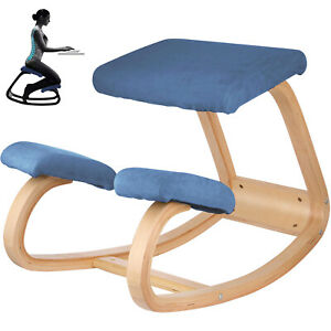 Ergonomic Kneeling Chair Stools Home Office Furniture Rocking Seat Wooden Decors