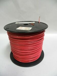 Republic Wire 12 Thhn Stranded Copper Wire Slightly Used 500 Spool Red a13