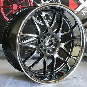 Xxr 526 20 35 Chromium Black Staggered Rims Wheels Lip 5x4 5 11 Ford Mustang Gt