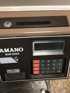 Amano Computerized Employee Time Clock Mjr 8000 With Key Free Ship