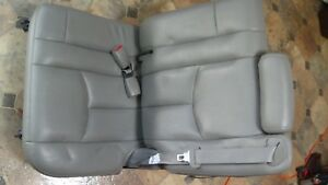 2003 Chevy Tahoe Pair Of Back Grey Nice Leather Seats With Safety Belts