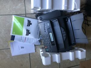 Hp 1040 Inkjet Fax Machine W built in Telephone Handset Print Scan