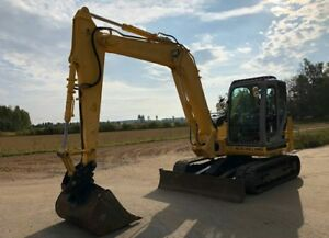 2012 New Holland E80 Cab Track Midi Excavator Ac heat