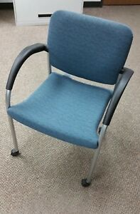 Allsteel Tolleson Mobile Side Chair With Arms New Qty 2